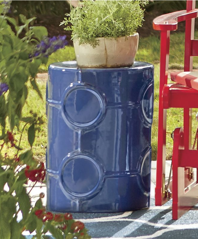 Decorating Tips U0026 Design Ideas To Transform Your Outdoor Living Space. Let A  Colorful Garden Stool Doubles As A Side Table.