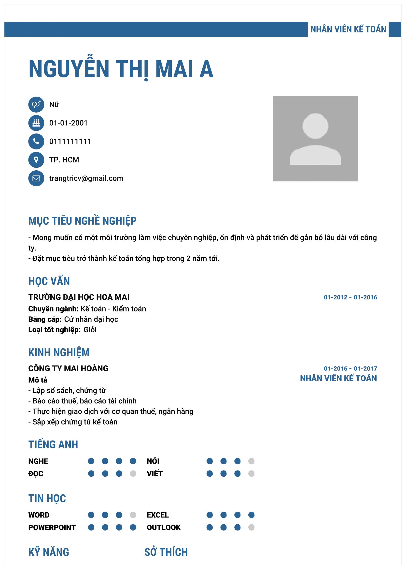 Mẫu CV Xin Việc Làm Online Đẹp Chuẩn Download Ngay