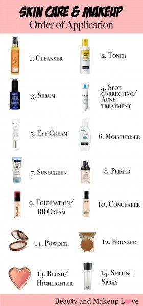 Face Products Order Of Application Inexpensive Skin Care Face Skin Care Regimen Makeup Order