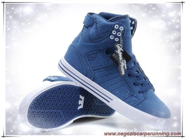 scarpe da calcio Uomo Supra Skytop Blu/Bianco