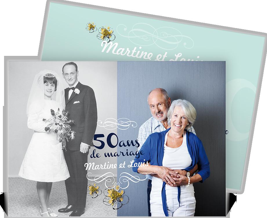 Connu Invitation anniversaire de mariage pour convier vos proches à vos  WR45