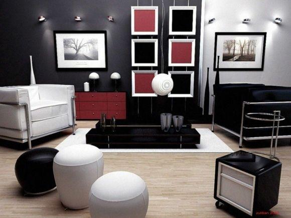 idée de couleurs pour un salon contemporain | DECO MAISON ...