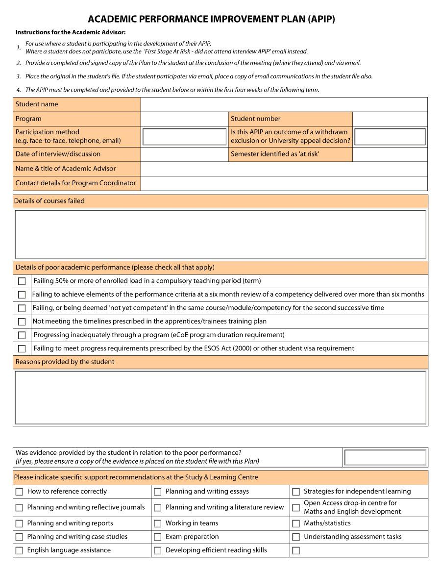 Download performance improvement plan template 22