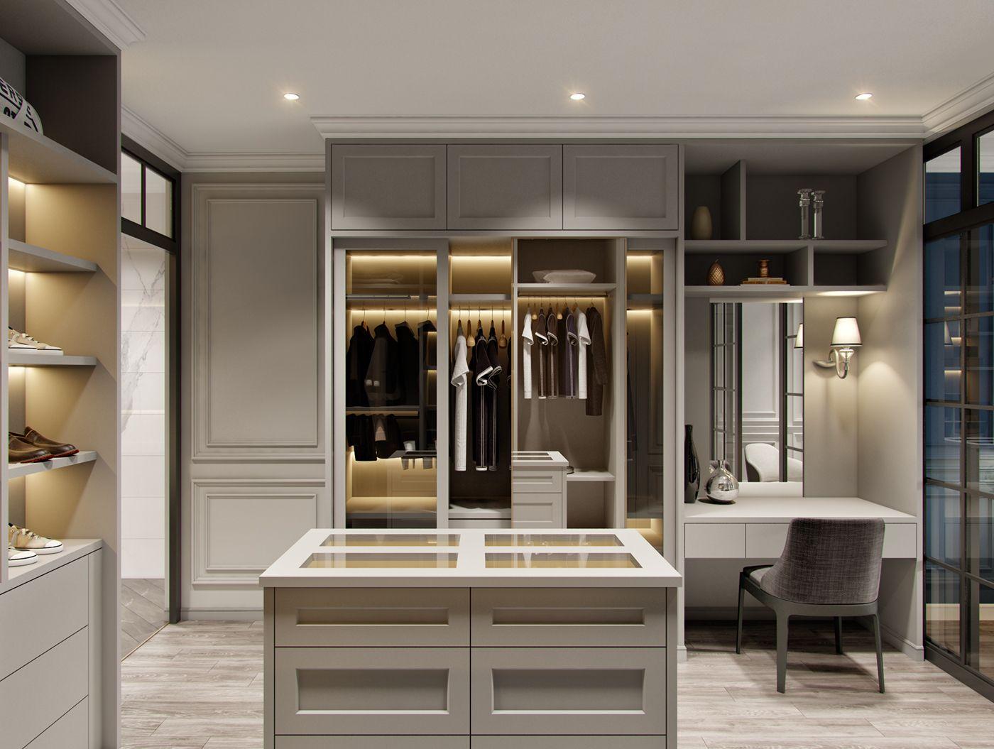 APARTMENT 100 m2   Walk in closet design, Dressing room ...