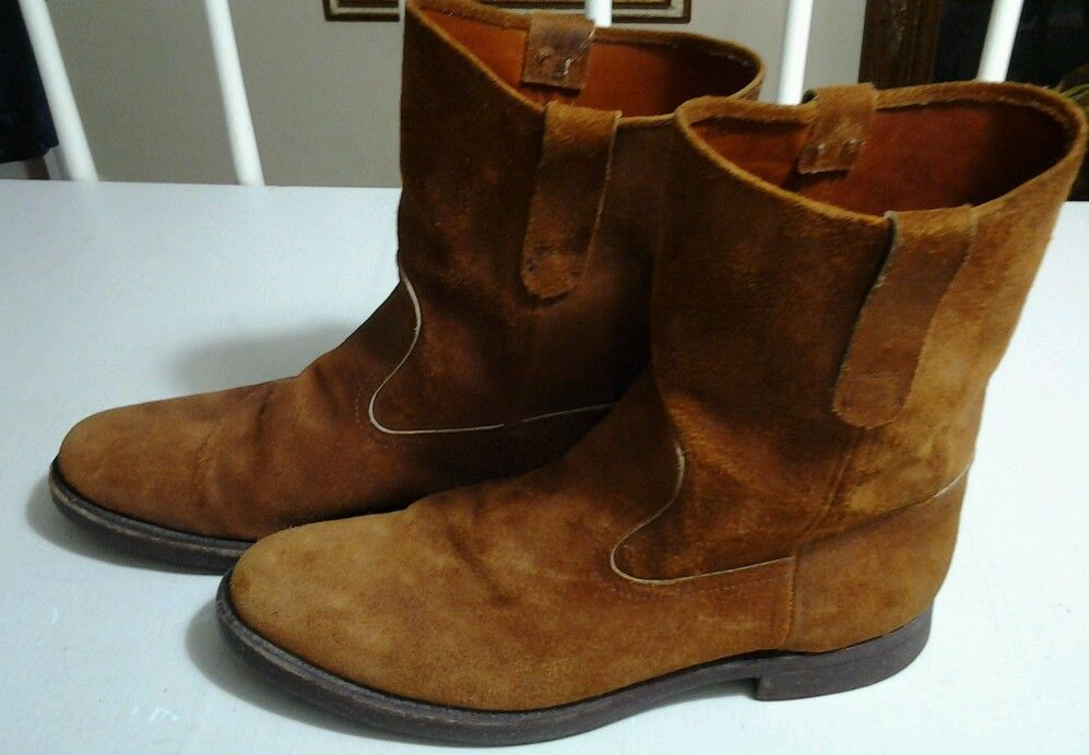 cb1877b1c Vintage Polo Ralph Lauren Roper Cowboy Boot Men size 9.5 Brown Suede USA in  Clothing