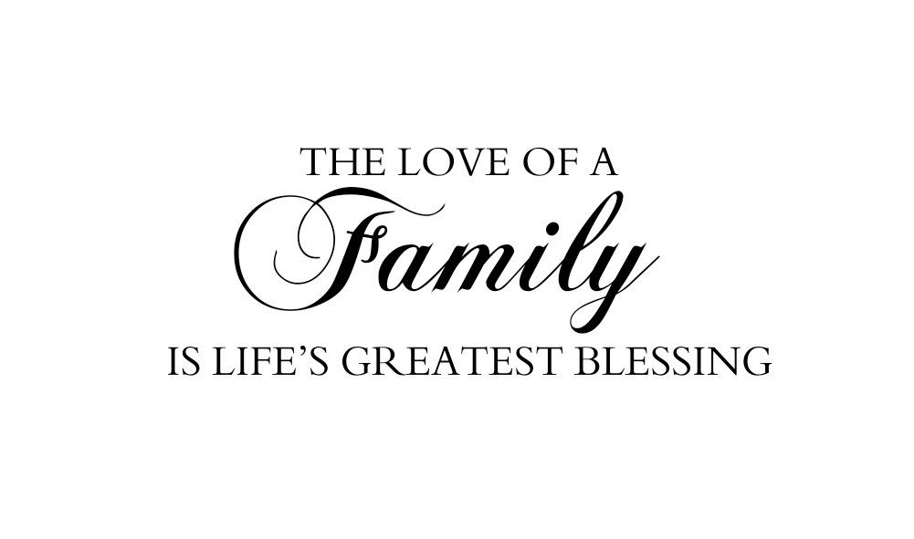 Foyer Art Quotes : Love of a family vinyl wall decal quote saying for