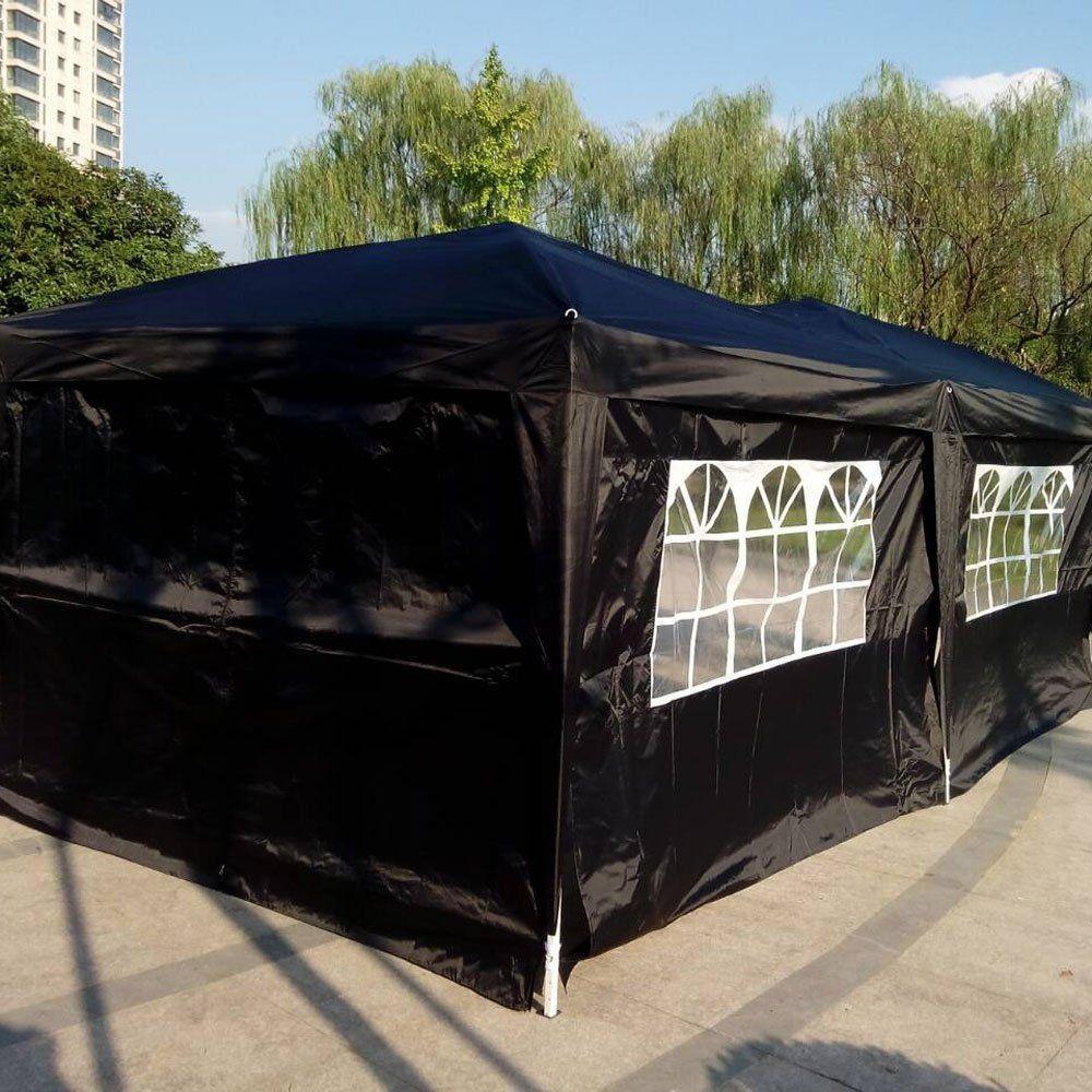 Vingli 10 X 20 Ez Pop Up Canopy Tent W 6 Removable Sidewallsw 4 Windows And Zippered Dooroutdoor Wedding Party Canopy Sun Canopy Outdoor Outdoor Gazebo Canopy