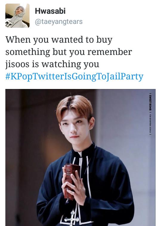 Kpoptwitterisgoingtojailparty Kpop Funny Kpop Memes K Pop Boy Band
