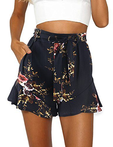 awesome ISASSY Damen Shorts Sommer Hoch Taille Hot Pants Chiffon ...