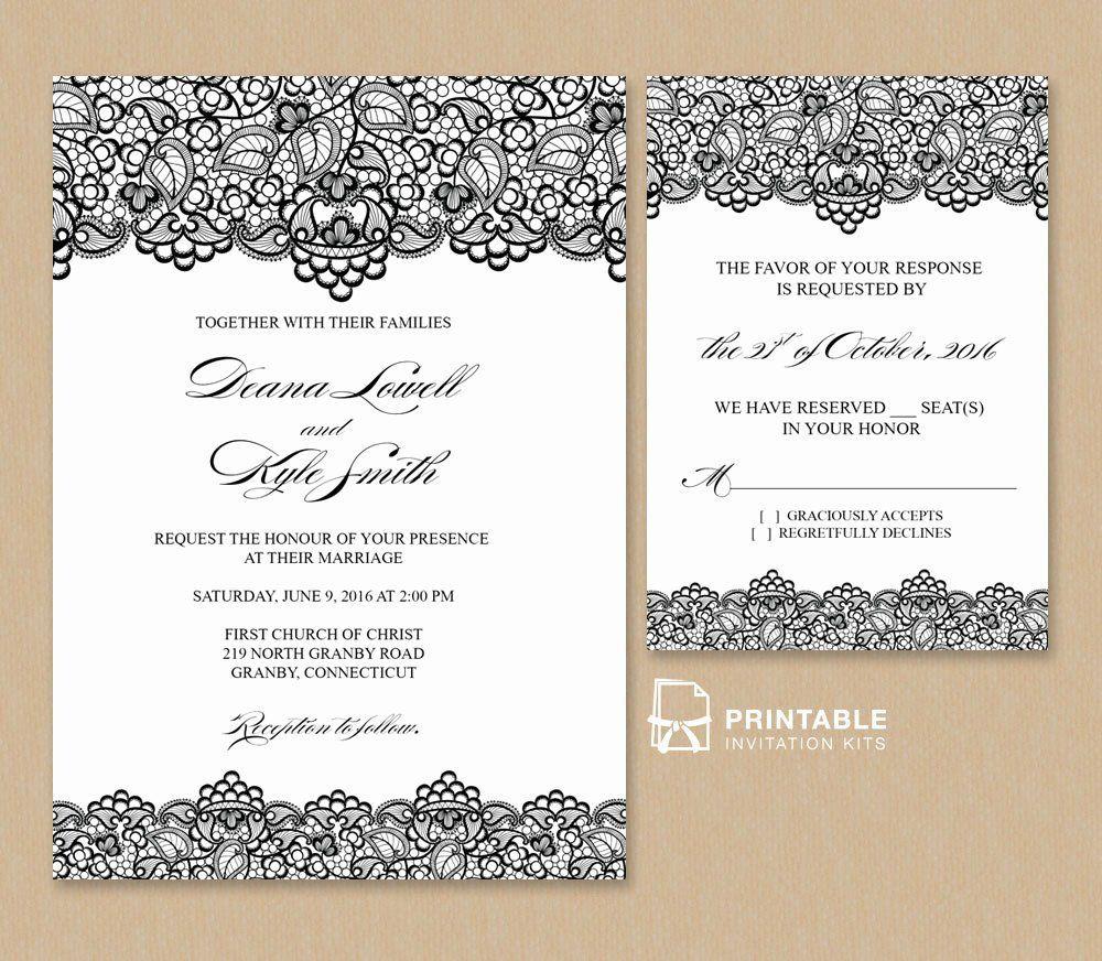 Wedding Invitation Template Free New Black Lace Vintage Free Wedding Invitation Templates Vintage Wedding Invitations Templates Electronic Wedding Invitations