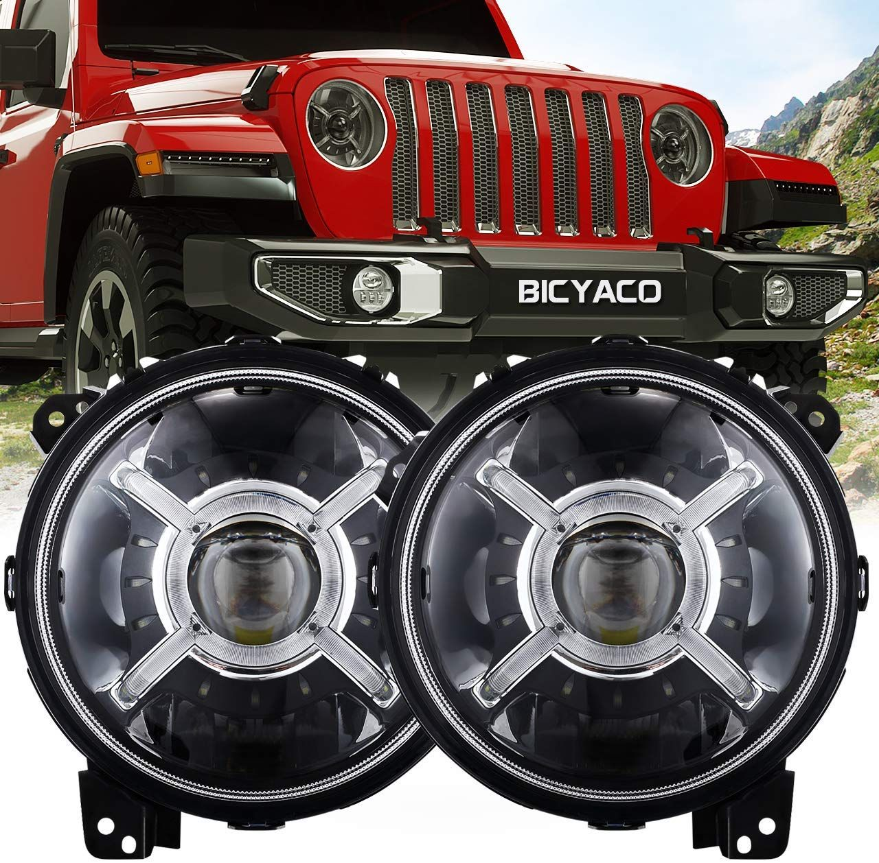9 Inch Round Led Headlights For 2018 2019 Jeep Wrangler Jl