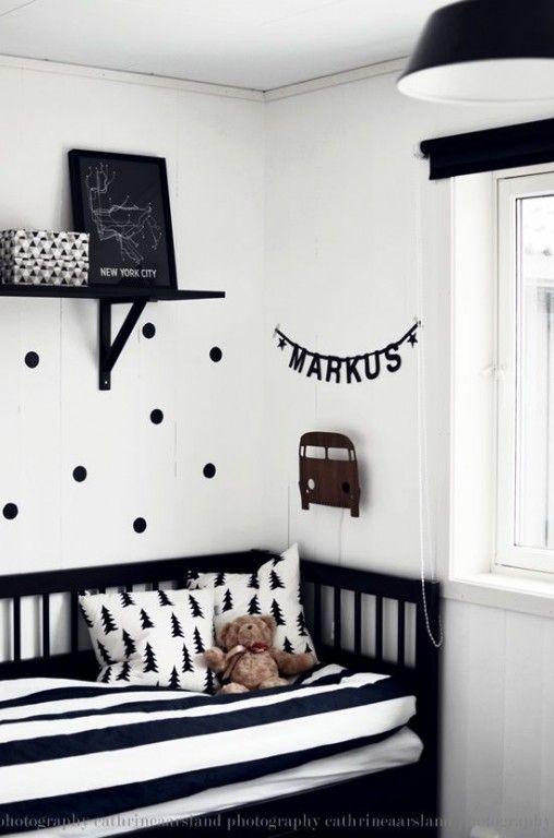 Interieur & kids - Babykamer, Zwart wit en Kinderkamer