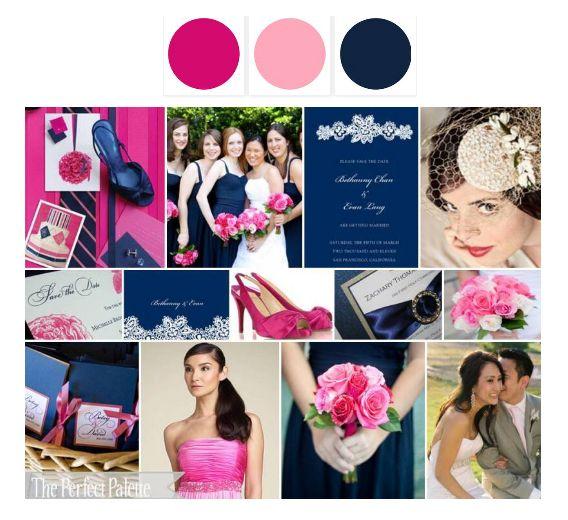 navy+fuschia+blush | Joycee's Journal: Our Wedding Color Palette