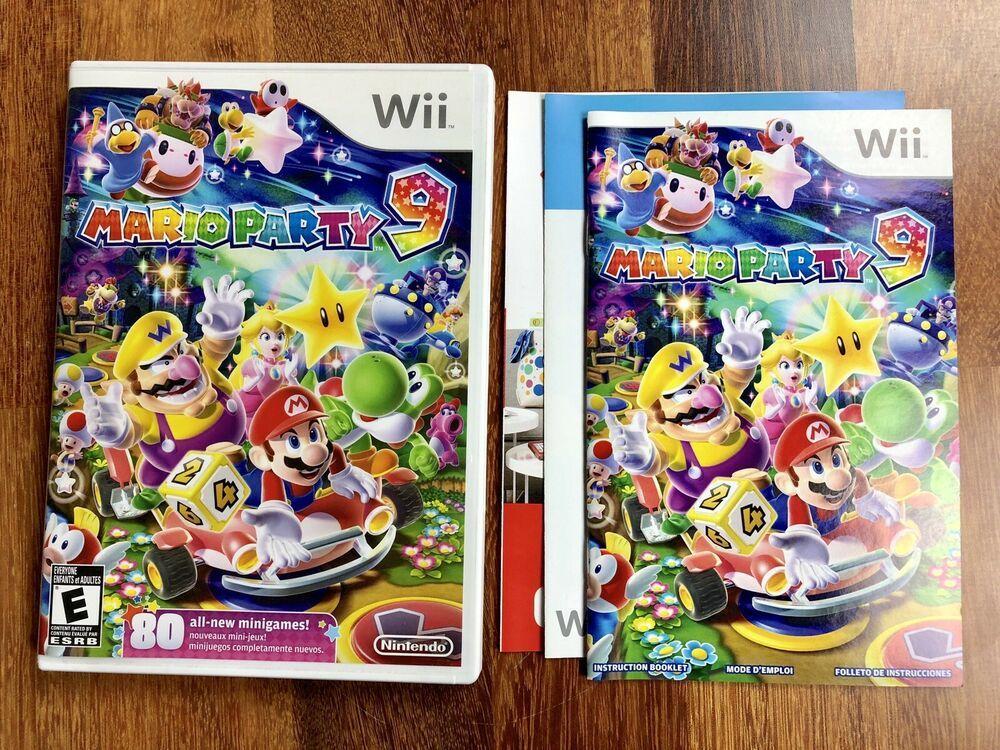 Mario party 9 nintendo wii 2012 cib complete w manual