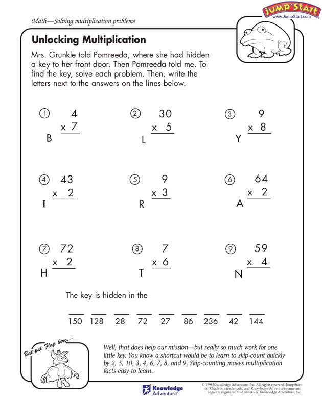 multiplication worksheets – Multiplication Worksheets for Kids