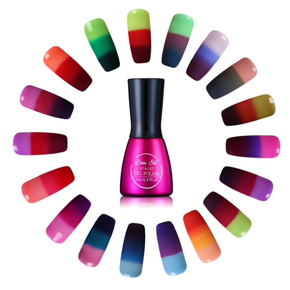 Beau Gel Chameleon Temperature Color Change UV Gel Nail Polish 3 in ...