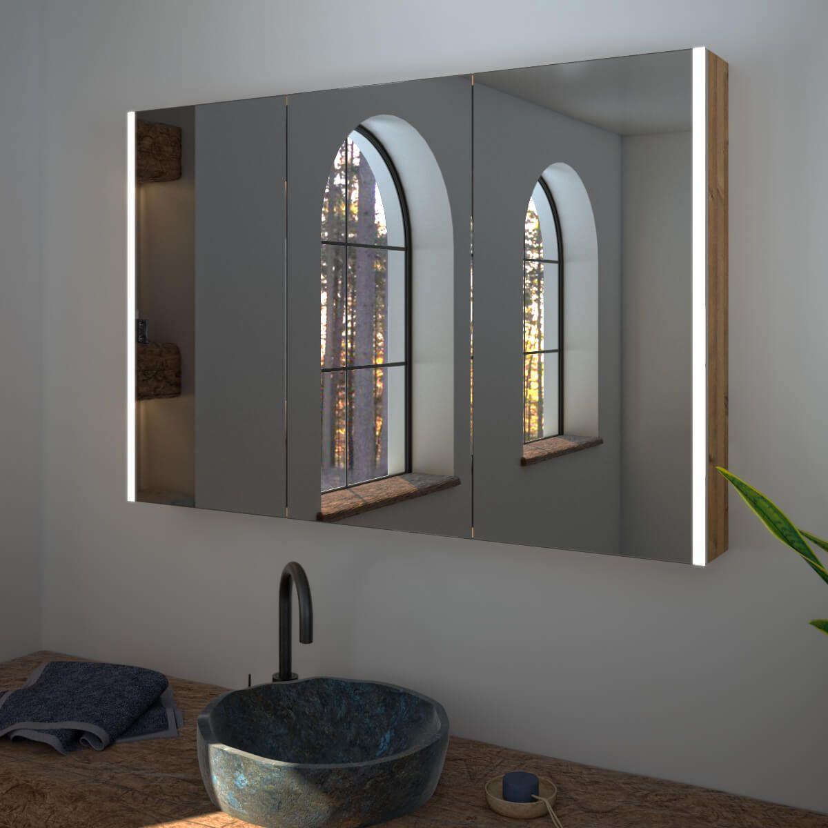 Spiegelschrank Nach Mass Mit Led Credo Sides Spiegelschrank Beleuchtung Spiegelschrank Bad