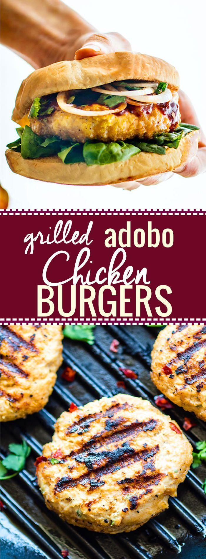 Gegrillte AdoboHähnchenburger glutenfrei