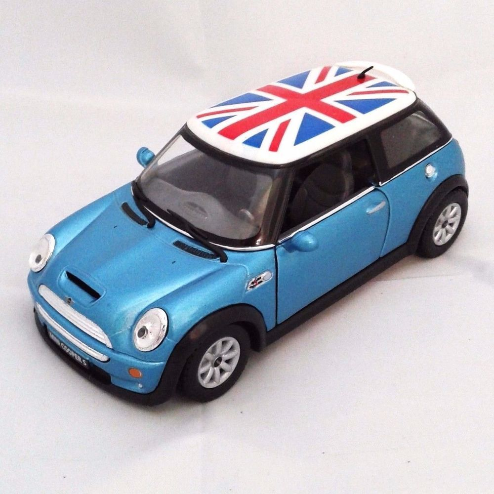 Cars, Trucks & Vans Kinsmart Mini Cooper S 1:28 Diecast Toy Car Green Diecast & Toy Vehicles