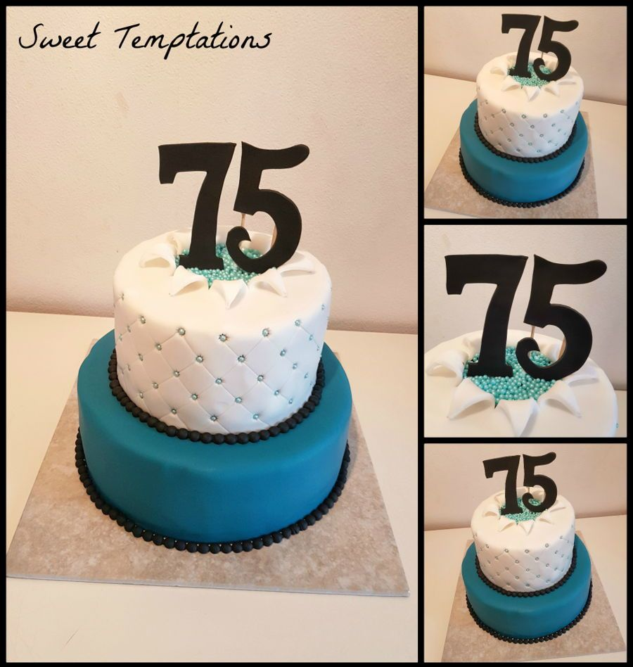 75Th Birthday Cake for 75th birthday filled with vanilla buttercream