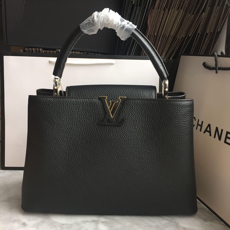 97f7098831f2 Louis Vuitton Lv woman tote bag capucines black large size