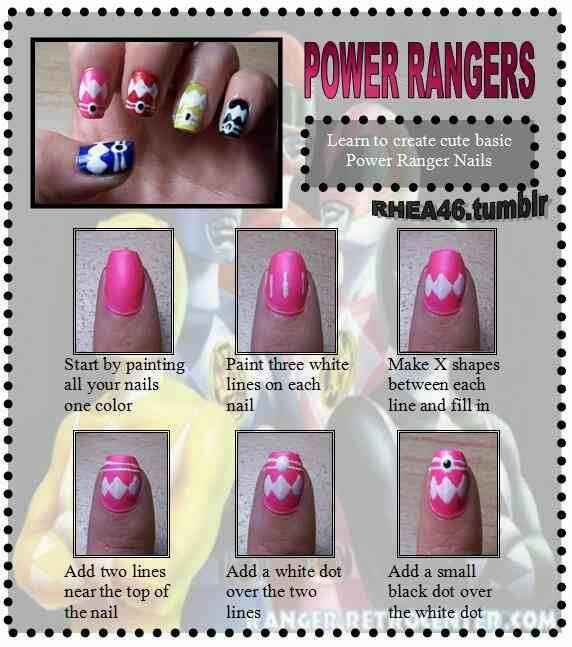 Perfecto Power Rangers Uñas Foto - Ideas de Diseño de Pintura de ...