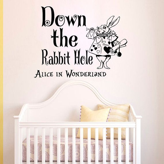 Wall Decals Alice In Wonderland Quote Decal Down By Wisdomdecals