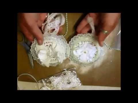 Christmas Ornaments with vintage images-So Shabby Chic (Tutorial) - YouTube
