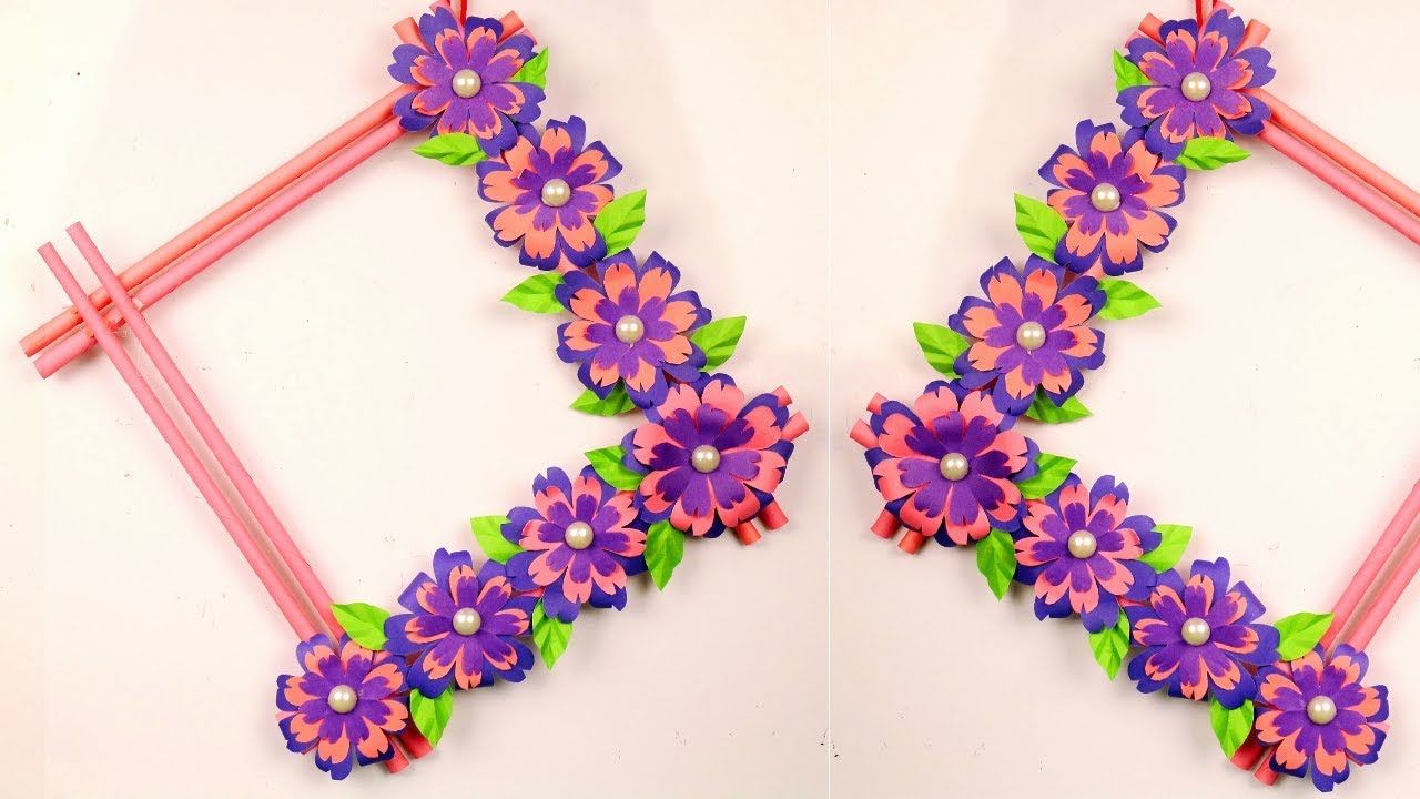 Diy Easy Paper Flowers Wall Hanging At Home Handmade Craft Ideas