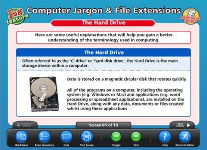 Computer Jargon  File Extensions ICT Educational Software TECHY