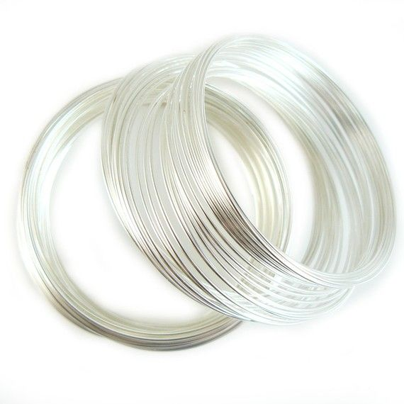 1 75 Inch Silver Plated Stainless Steel Bracelet Memory Wire 12 Loops Memory Wire Stainless Steel Bracelet Memory Wire Bracelets