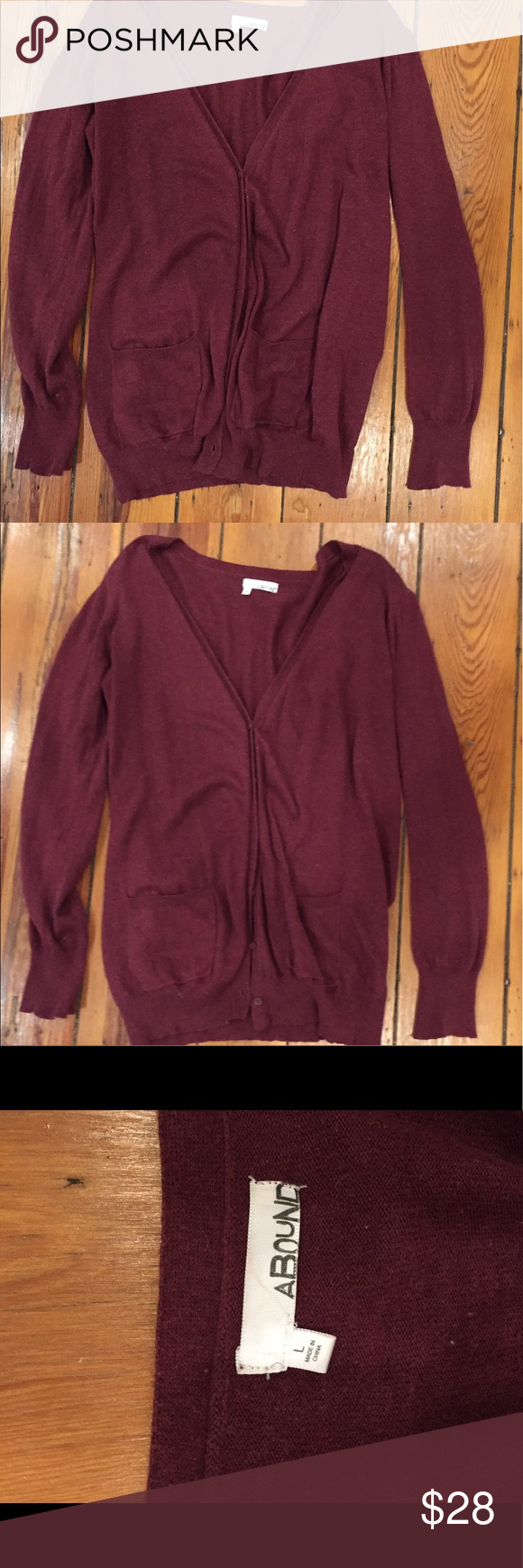 Maroon grandfather cardigan from Nordstrom | Maroon cardigan and ...
