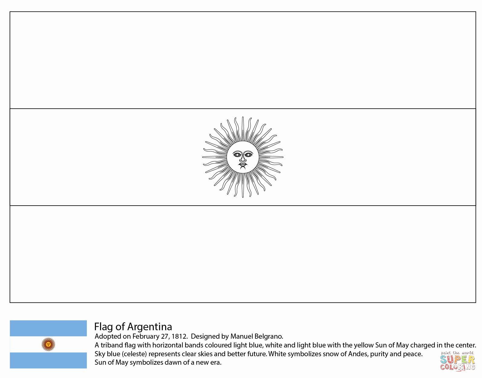 Chilean Flag Coloring Page In 2020 Flag Coloring Pages Coloring
