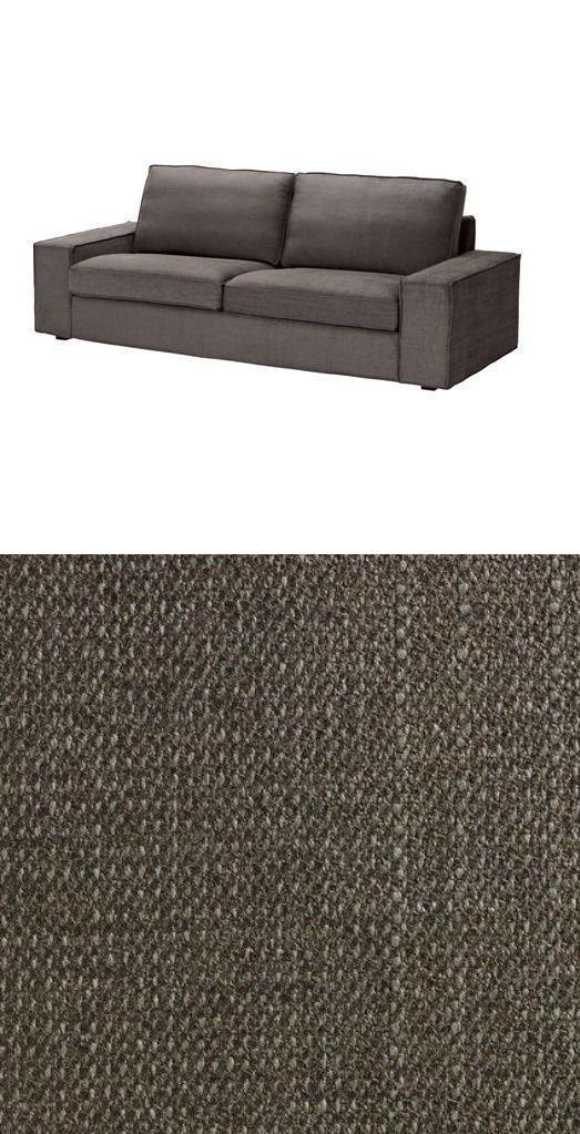 Slipcovers 175754: Ikea Kivik 3 Seat Sofa Slipcover Cover Tullinge  Gray Brown 202.003.