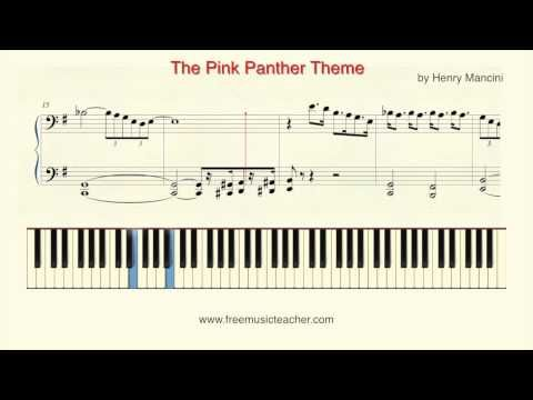 How To Play Piano Pink Panther The Pink Panther Theme Piano