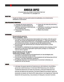 Información De Contacto   Mi CV Ideal  Ideal Resume