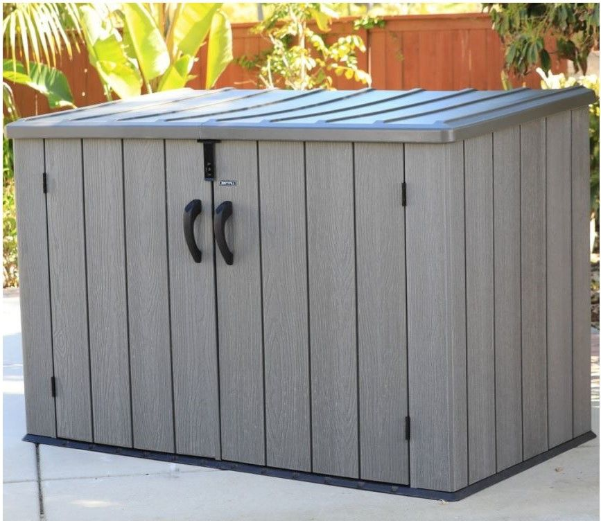 Merveilleux Lifetime Horizontal Storage Sheds