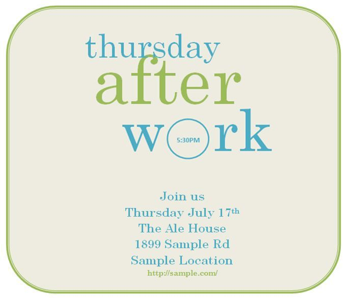 DIY Invitation Happy Hour Made On Microsoft Word