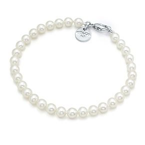 0ed57f8fc Tiffany Pearl bracelet with sterling silver clasp. Love it even more  without the return to Tiffany charm