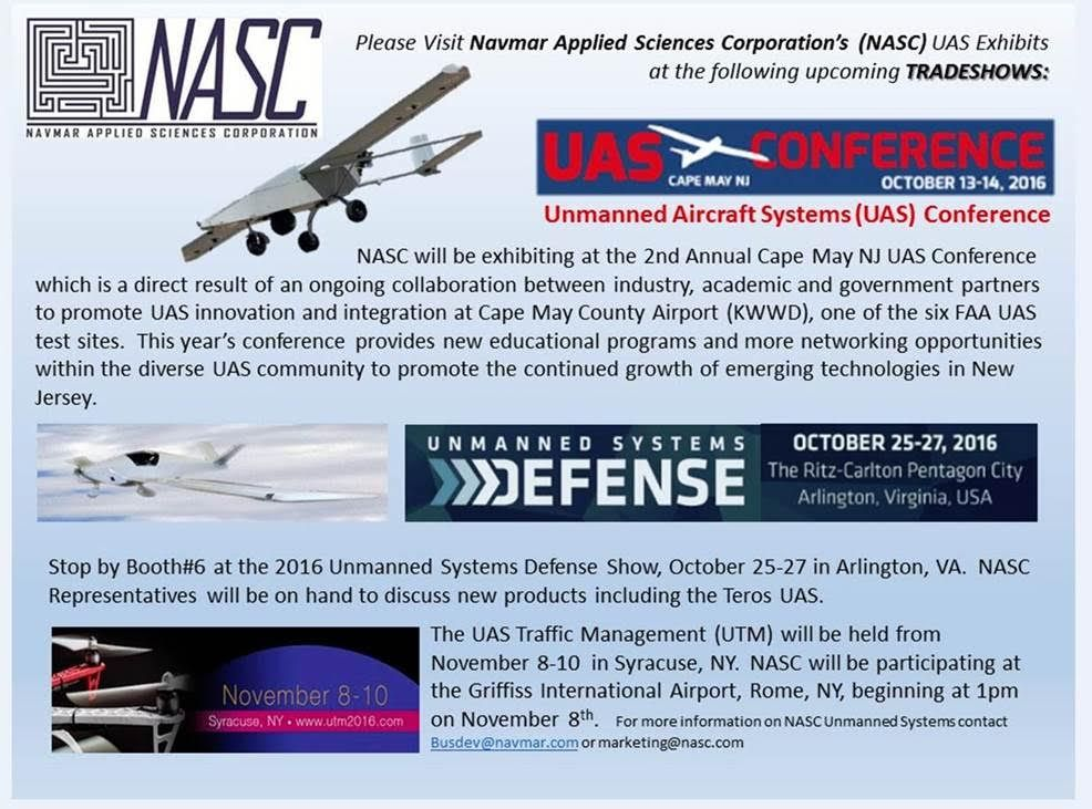 NASC will be attending these three UAS trade shows, we hope to see