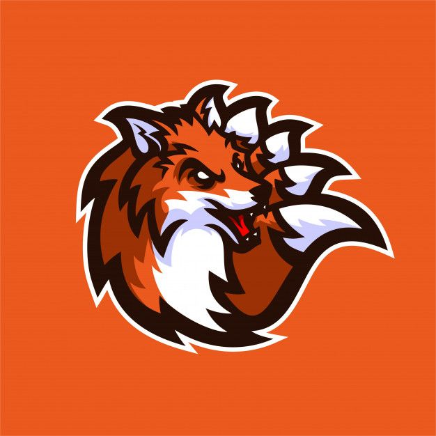 Fox Esport Gaming Mascot Logo Template Premium Vector Cool Logo