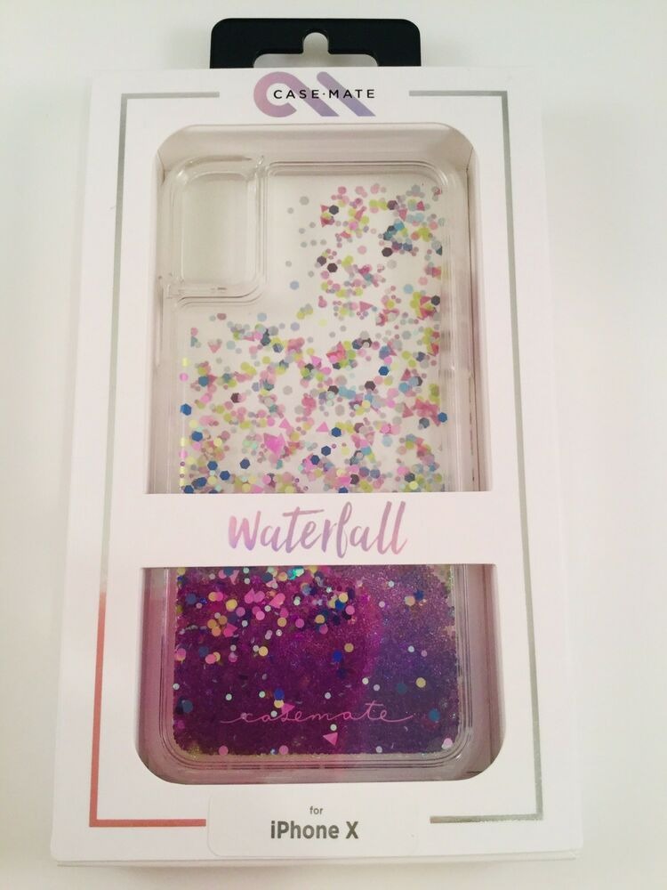 on sale 37eb9 218a2 Case-Mate Waterfall Glitter Case for iPhone X and Xs PURPLE Glow in ...
