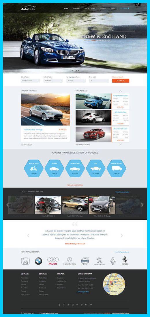ThemeFuse - AutoTrader WordPress Theme Review | voitures | Pinterest ...