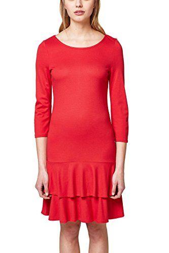 best cheap ac0b4 c4652 ESPRIT Damen Kleid 038EE1E009 Rot (Red 630) Large | Kleider ...