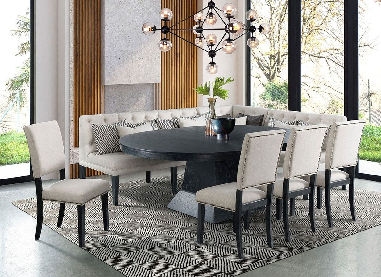 Maddox Dining Nook Set Picket House Furnishings Round Dining Room Sets Dining Nook