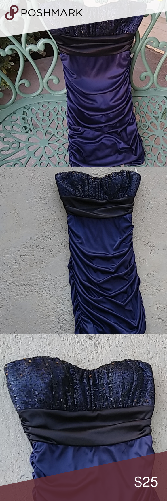 Speechless Royal Blue mini Size small Super cute mini for a formal cocktail party, or any high school dance. Size small, never worn . 100% polyester. Pretty beaded bodice. Size small Speechless Dresses Mini #schooldancedresses