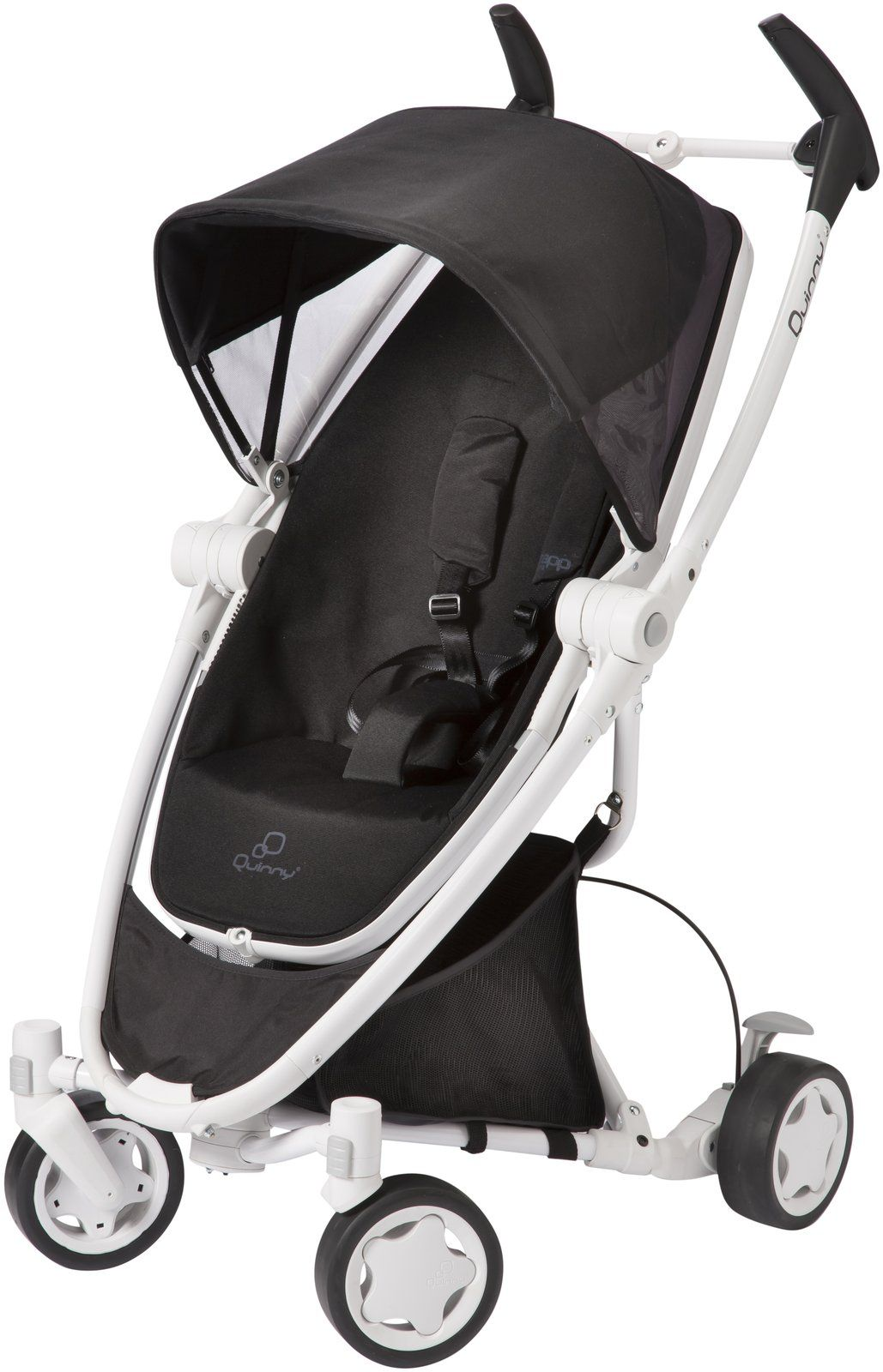 Quinny Zapp Xtra Stroller with Folding Seat White Collection - Black ...