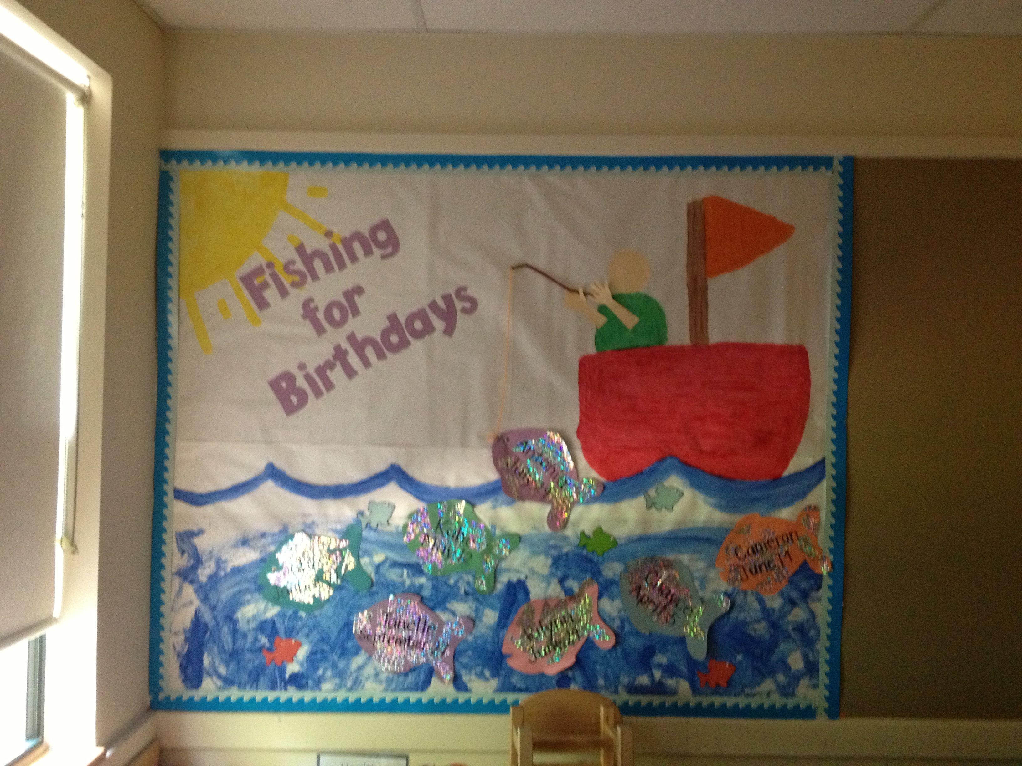 Classroom Birthday Ideas : Birthday bulletin board for toddlers or preschoolers