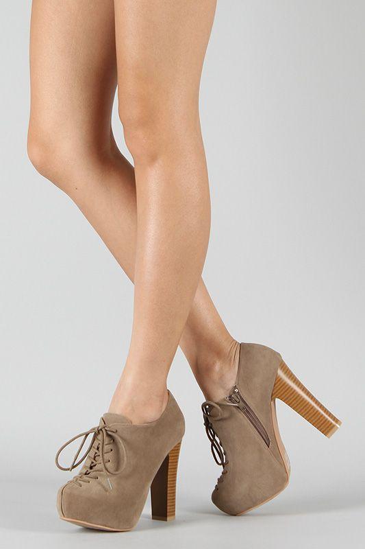 Zapatos Botines Tacón Beige Hermosos De CuadradoFashion XOuPkZi