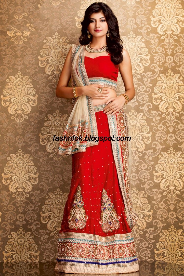 bridal-wedding-wear-sari-lehenga-choli-latest-brides-outfit-for ...